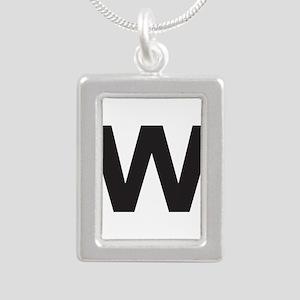 Letter W Black Necklaces