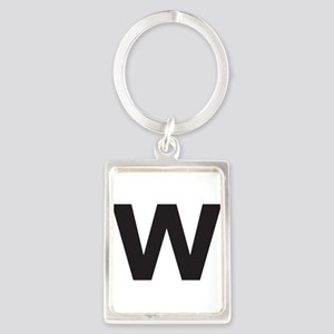 Letter W Black Keychains