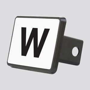 Letter W Black Hitch Cover