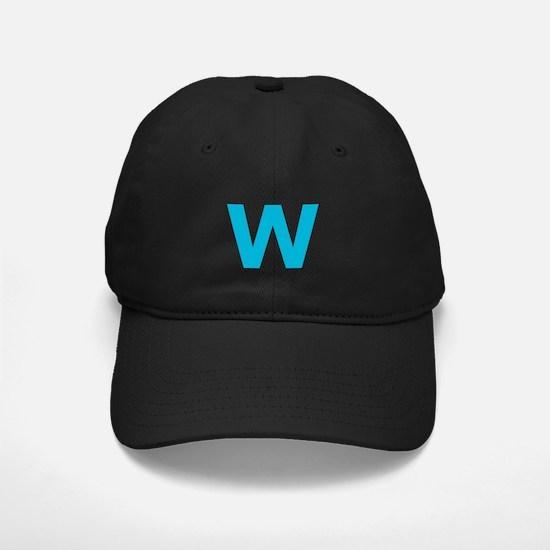 Letter W Blue Baseball Hat