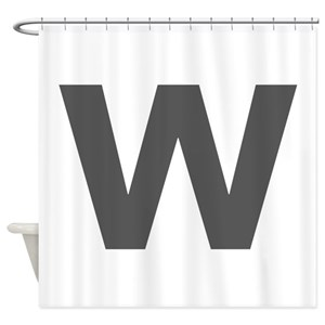 Letter W Shower Curtains
