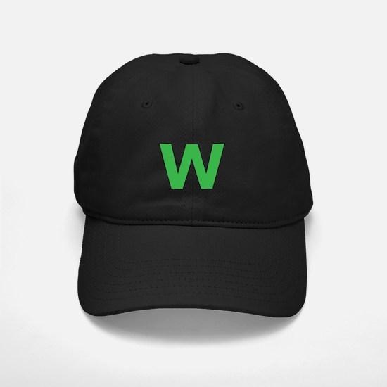 Letter W Green Baseball Hat