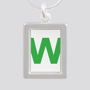 Letter W Green Necklaces