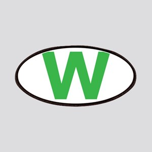 Letter W Green Patches