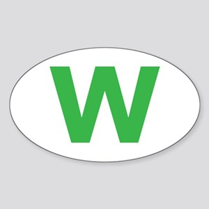 Letter W Green Sticker
