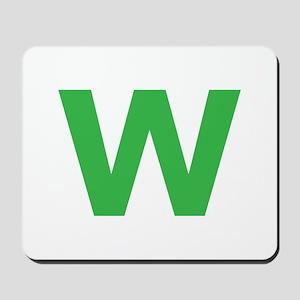 Letter W Green Mousepad