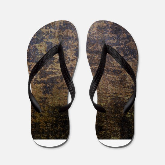 Rusted fabric texture Flip Flops