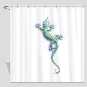Hang On Gecko Shower Curtain
