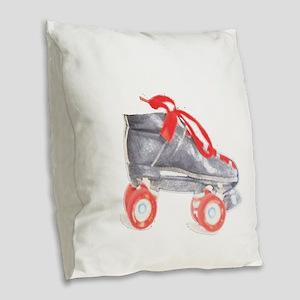 Skate copy Burlap Throw Pillow
