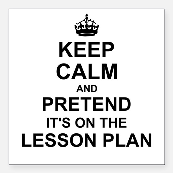 Keep Calm and Pretend its on the lesson plan Squar