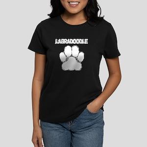 Labradoodle Distressed Paw Print T-Shirt