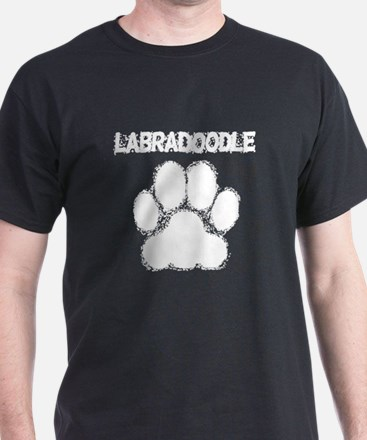 Labradoodle Distressed Paw Print T-Shirt