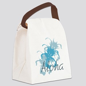 Aloha Floral Canvas Lunch Bag