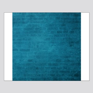 Teal brick texture Posters