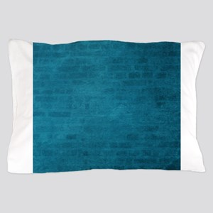 Teal brick texture Pillow Case