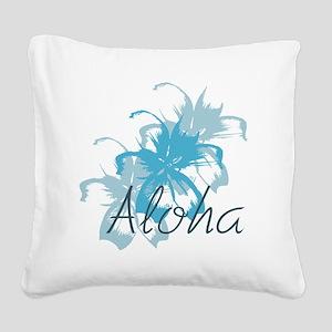 Aloha Floral Square Canvas Pillow