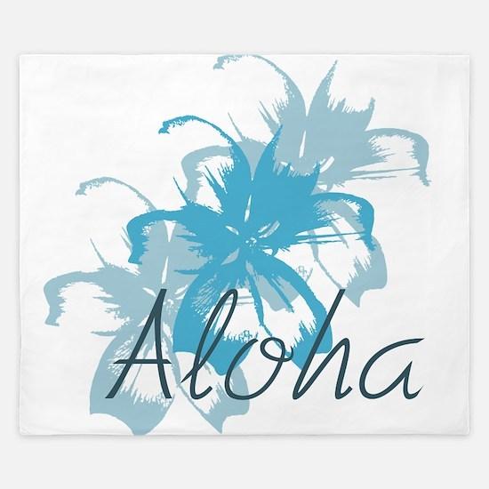 Aloha Floral King Duvet