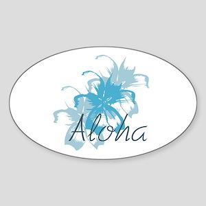 Aloha Floral Sticker (Oval)