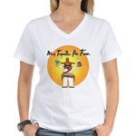 Mas Tequilla, Por Favor Women's V-Neck T-Shirt