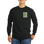 Facey Long Sleeve Dark T-Shirt