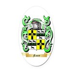 Facey Oval Car Magnet