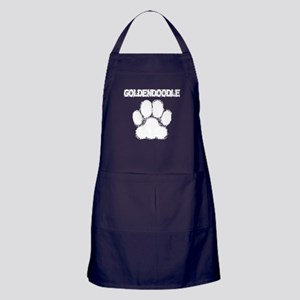 Goldendoodle Distressed Paw Print Apron (dark)
