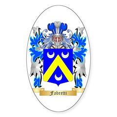 Fabretti Sticker (Oval 50 pk)
