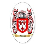 Fabisch Sticker (Oval 50 pk)