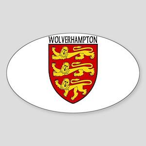 Wolverhampton, England Oval Sticker