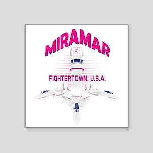 "Miramar Square Sticker 3"" x 3"""