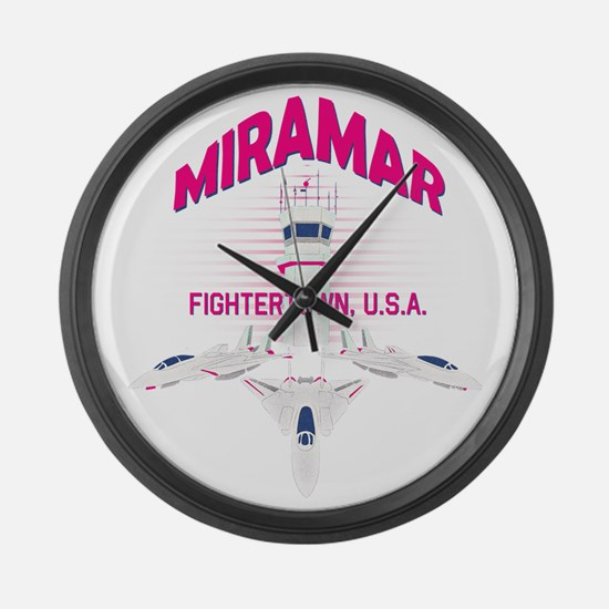 Miramar Large Wall Clock