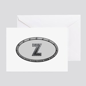 Z Metal Oval Greeting Card