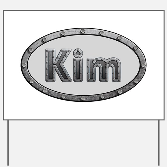Kim Metal Oval Yard Sign