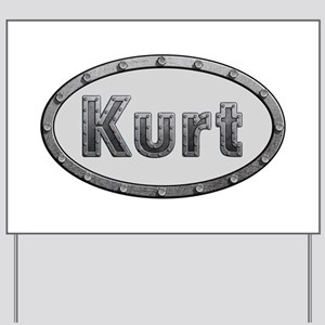Kurt Metal Oval Yard Sign
