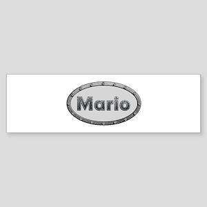 Mario Metal Oval Bumper Sticker