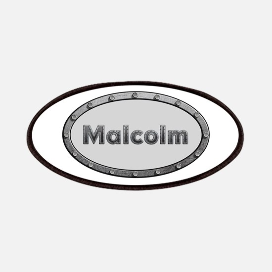 Malcolm Metal Oval Patch