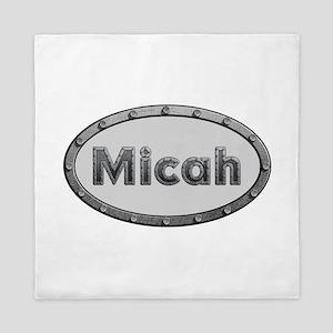 Micah Metal Oval Queen Duvet