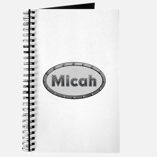 Micah Metal Oval Journal