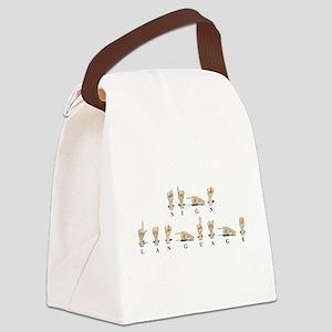 SignLanguageAmeslan062511 Canvas Lunch Bag