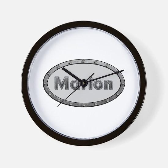 Marlon Metal Oval Wall Clock