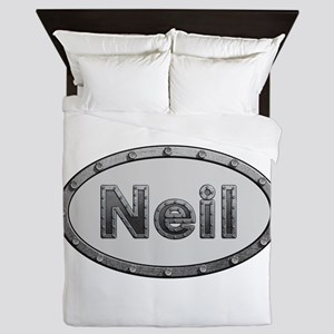 Neil Metal Oval Queen Duvet