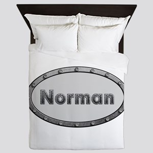 Norman Metal Oval Queen Duvet