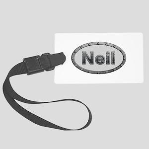 Neil Metal Oval Large Luggage Tag