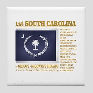 1st South Carolina Infantry (BH2) Tile Coaster