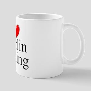 """I Love (Heart) Marlin Fishing"" Mug"