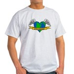Earth Day Mother Tattoo Light T-Shirt