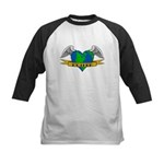 Earth Day Mother Tattoo Kids Baseball Jersey