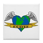 Earth Day Mother Tattoo Tile Coaster