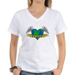 Earth Day Mother Tattoo Women's V-Neck T-Shirt