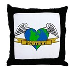 Earth Day Mother Tattoo Throw Pillow